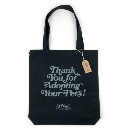 Thank You for Adopting Tote Bag in Black