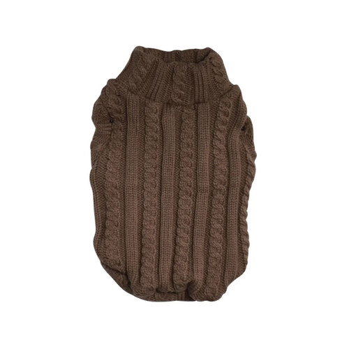 Taupe Turtleneck Sweater