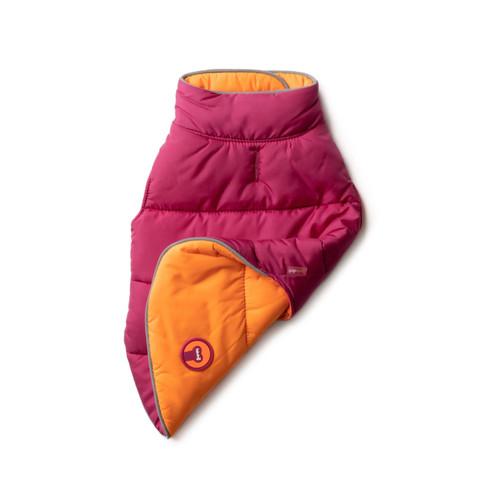 Pink + Orange Reversible Puffer Jacket