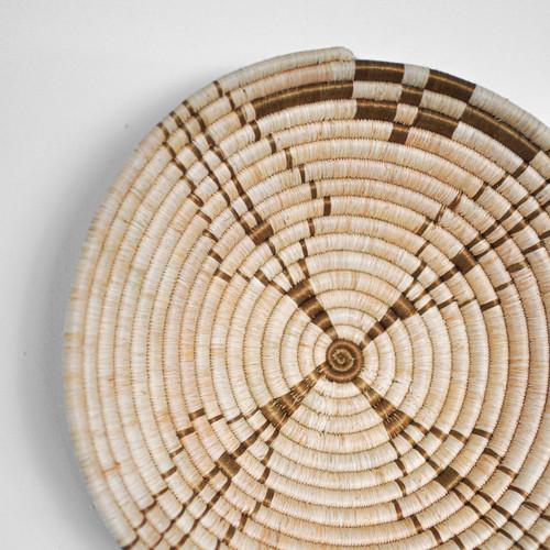Natural + Tan Woven Bowl