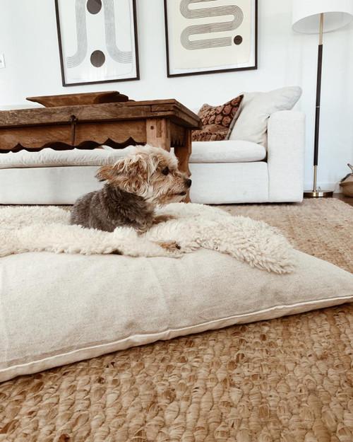 Natural Linen Bed