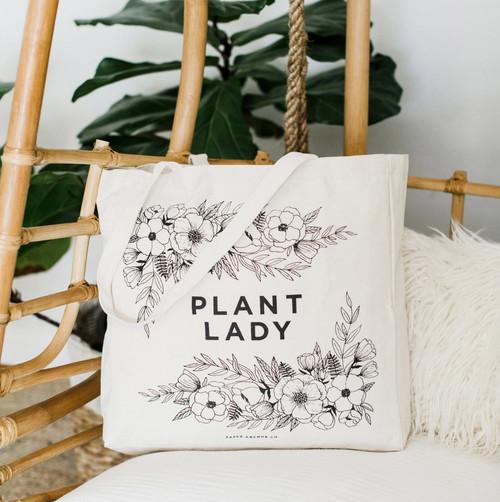 Plant Lady Canvas Tote Bag