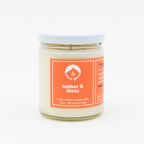 8 oz Amber + Moss Candle