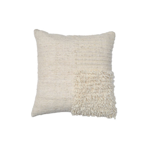Wool Shag Square Pillow Cover