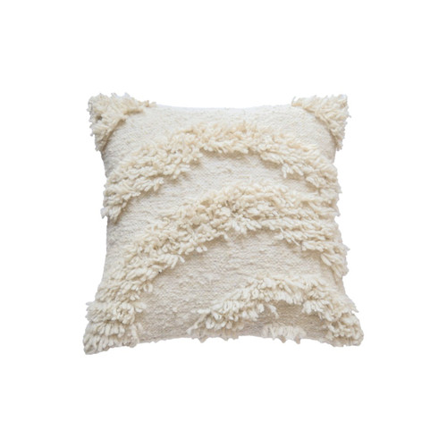 Wool Shag Arch Square Pillow Cover