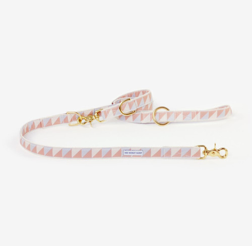 Adjustable Nice Grill City Leash in Camel, Ivory and Ice Blue