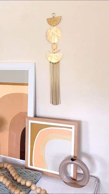 Star Shine Brass Wall Hanging