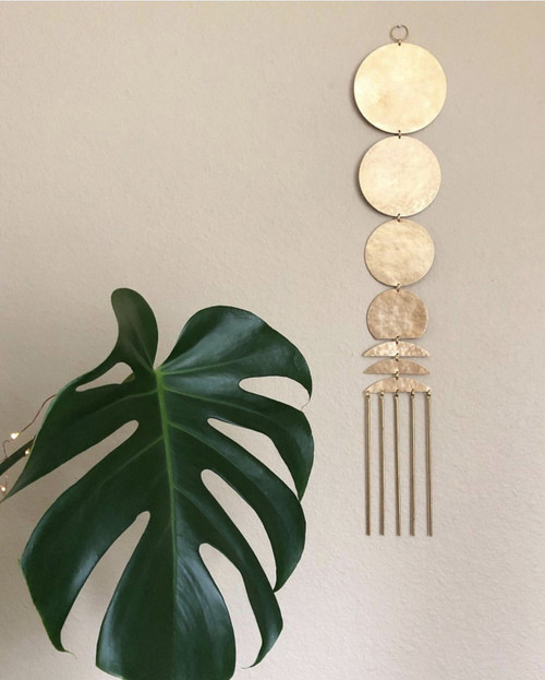 Here Comes The Sun Brass Wall Hanging