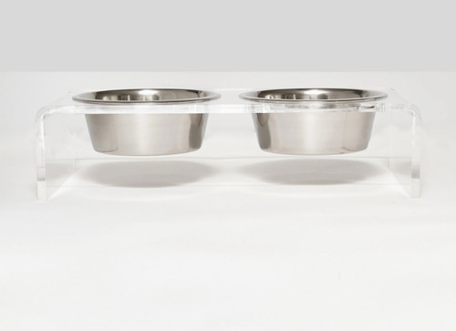 M Clear Elevated Pet Feeder