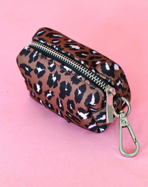 Chocolate Leopard Waste Bag Pouch