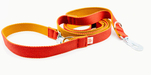 Two Tone Multifunctional Red Leash