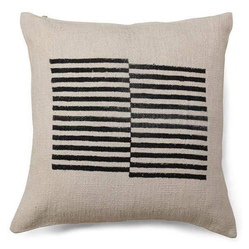 Black Offset Stripes Pillow