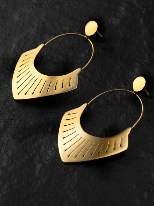 Armor Brass Earring