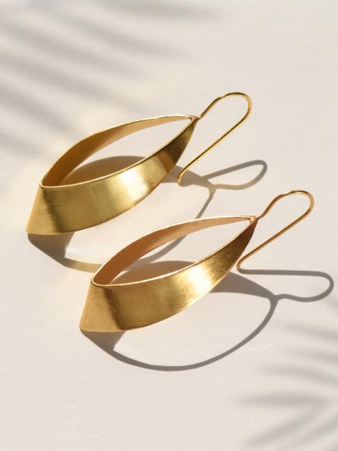 Flame Brass Earring