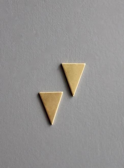 Brass Triangle Post Earring