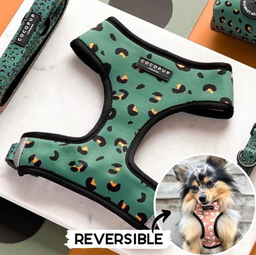 Green Leopard Reversible Harness