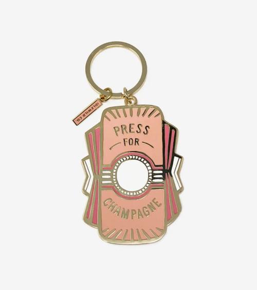 Champagne Key Chain