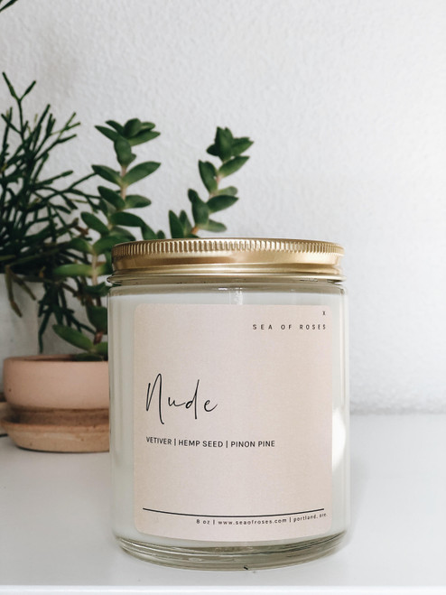 Nude Scent Coconut + Soy Wax Candle