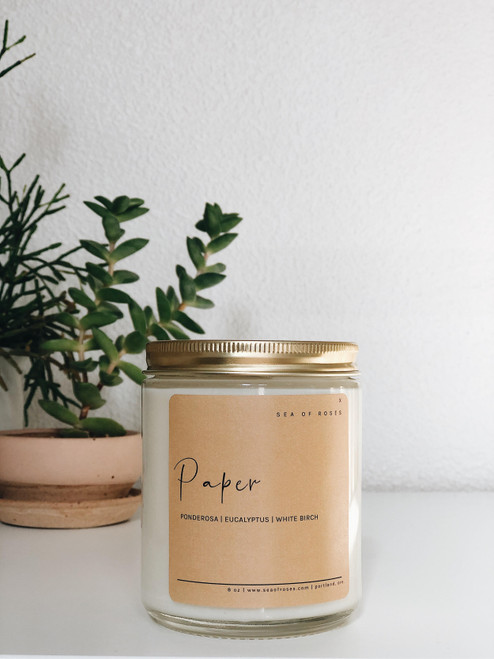 Paper Scent Coconut + Soy Wax Candle