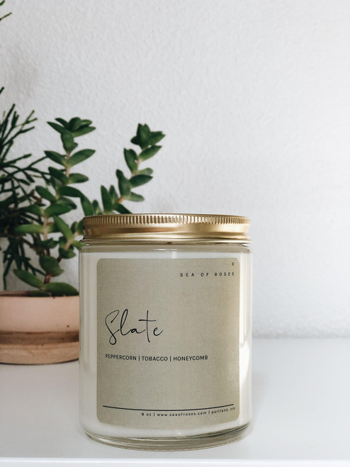 Slate Scent Coconut + Soy Wax Candle