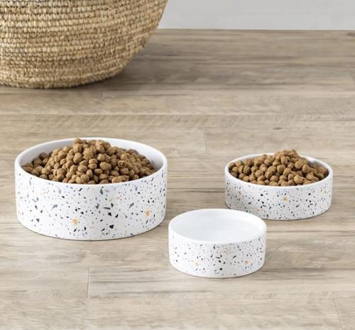 Terrazzo Print Pet Bowl