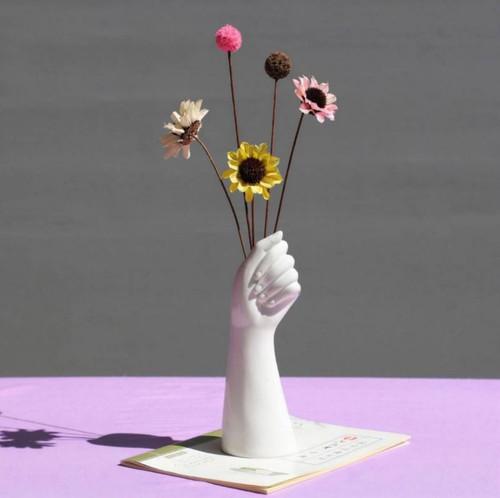 Hand Shape Ceramic Vase