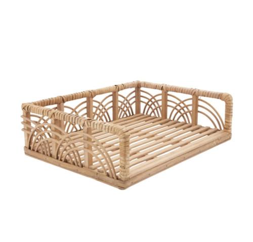 Rattan + Bamboo Document Tray