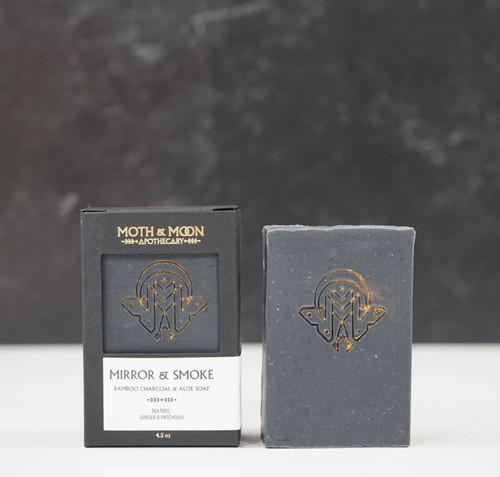 Mirror + Smoke Bar Soap