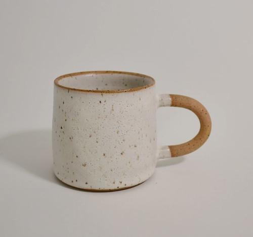 White + Natural Ceramic Mug