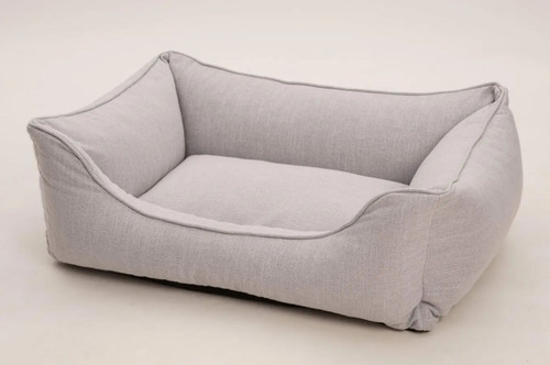 Chalk Grey Box Dog Bed