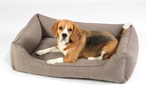 Greige Box Dog Bed