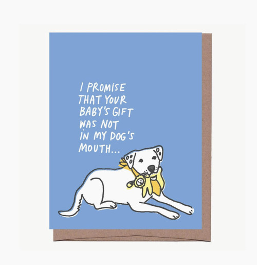 Dog Gift New Baby Card