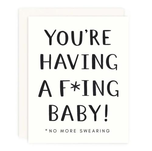 No More Swearing Greeting Card