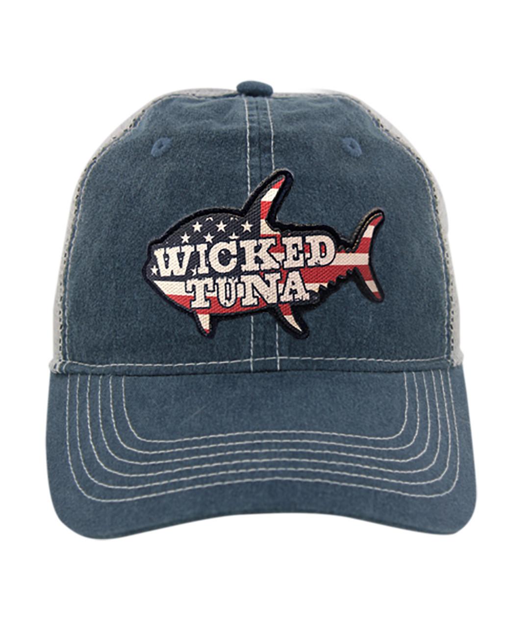 4c50f6f6432 American Flag Tuna Pigment Dyed Hat - Wicked Tuna Gear