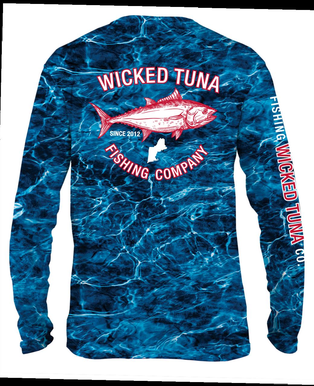 41ab706b36212 Wicked Tuna Mossy Oak Elements Performance UPF 50+ shirt - Wicked ...