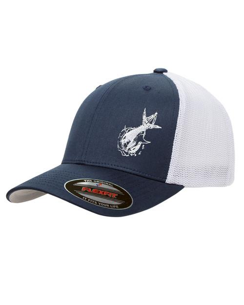 Pinwheel Trucker Mesh Hat - Wicked Tuna Gear