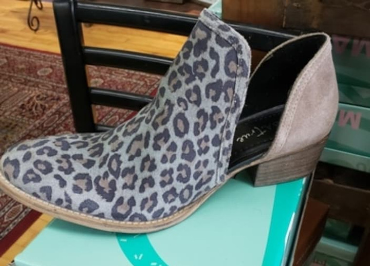 Shy Town Leopard Booties