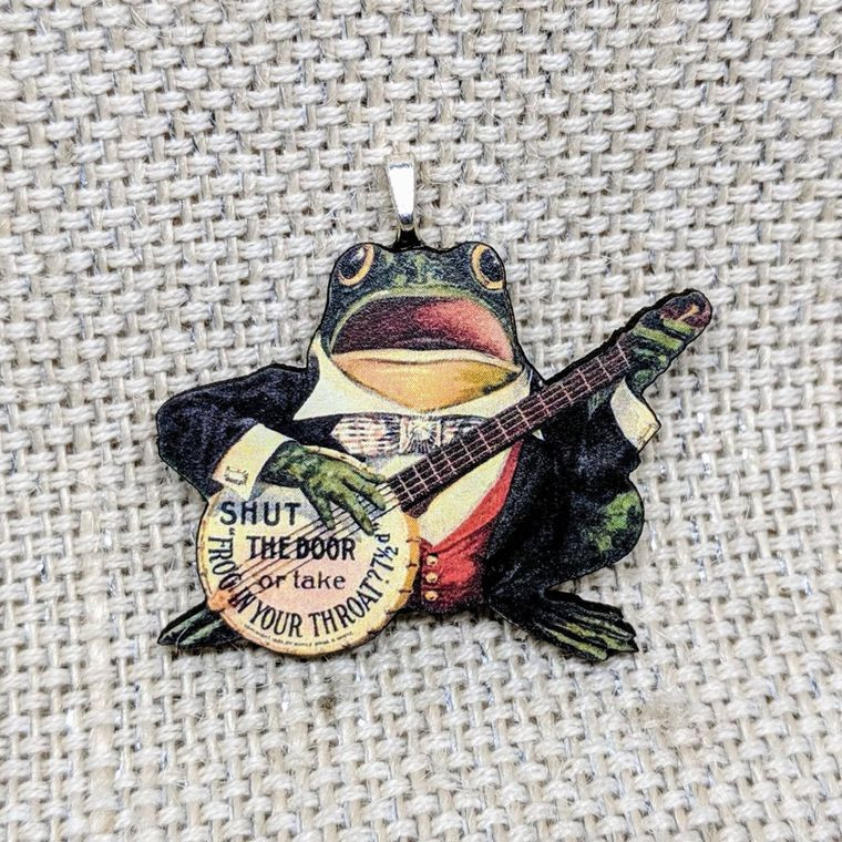 Musical Frog Necklace