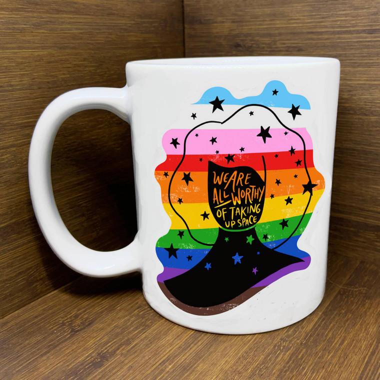We are all worthy mug