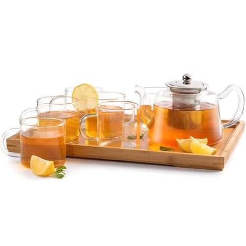 Kai Tea clear glass teapot Set