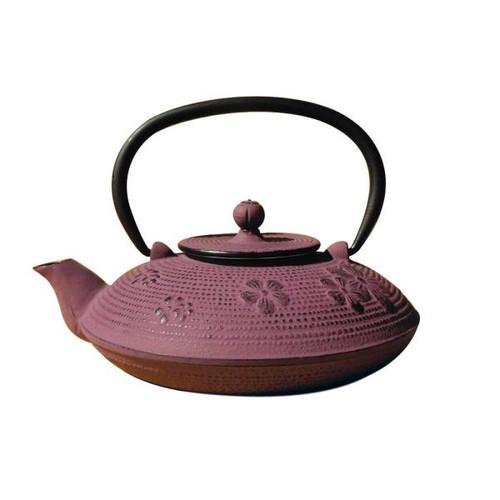 Cast Iron Purple Teapot