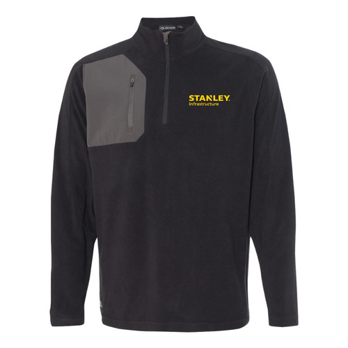 STANLEY Infrastructure Dri Duck Men's 100% Polyester Nano Fleece TM 1/4 Zip Interval Pullover
