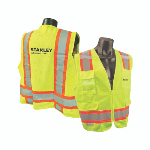STANLEY Two Tone Safety Vest Safety Green