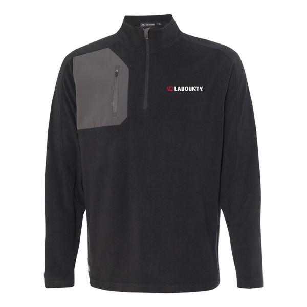 LaBounty Dri Duck Men's 100% Polyester Nano Fleece TM 1/4 Zip Interval Pullover