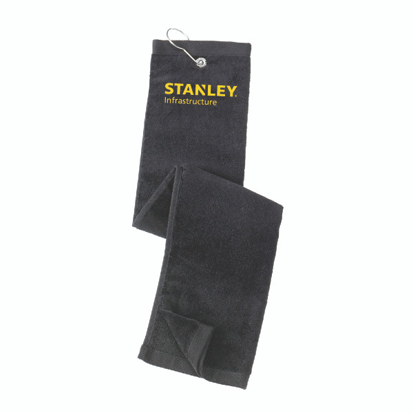 STANLEY Embroidered Grommet Tri-Fold Golf Towel
