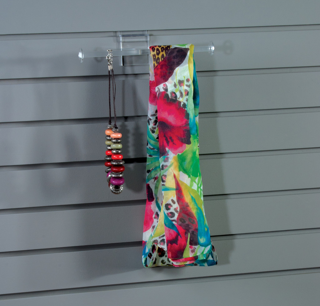 8766 - T-Bar Jewelry and Accessories Holder for Slatwall. Perfect addition to your slatwall display.