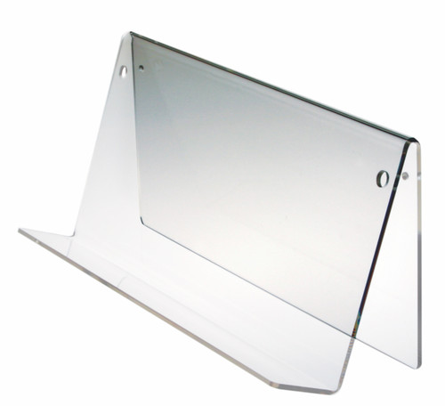 Clear acrylic table top or wall mounted book hol
