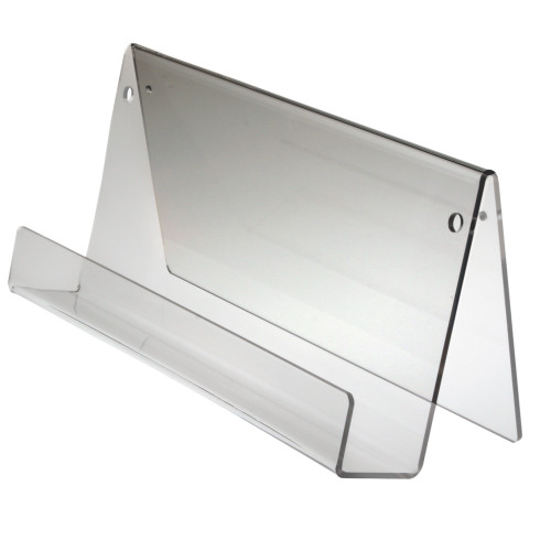 Clear Acrylic face out bookshelf. Use for countertop or mount on wall.