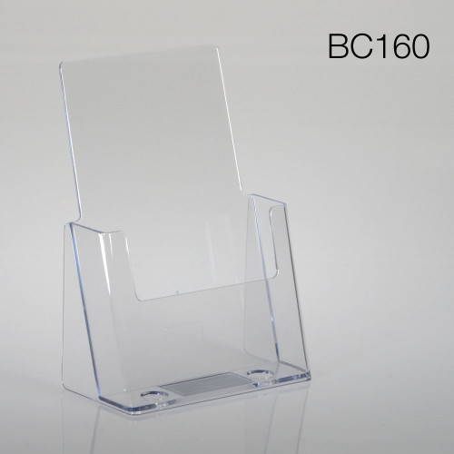 clear half-sheet countertop brochure holder