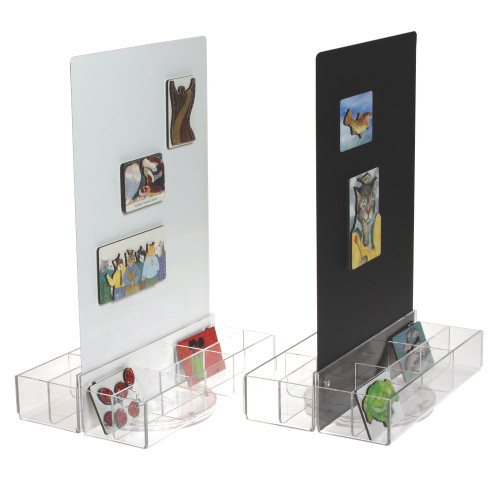Magnetic Countertop Spinning Display with Clear Acrylic Pockets